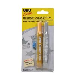 UHU Creativ Glitter glue Ag/Au bl c. 44120