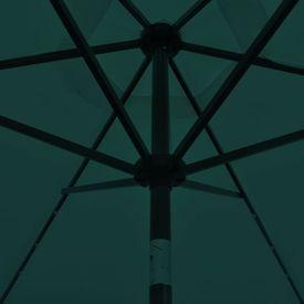 Umbrelă de soare cu LED 3 m, Verde
