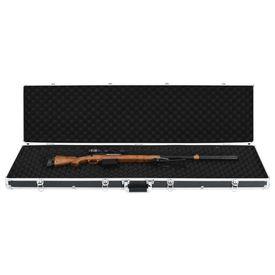 Valiză pentru armă, negru, 134 x 35 x 12 cm, aluminiu