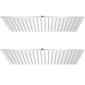 vidaXL Cap de duș tip ploaie, 2 buc., 30 x 50 cm, oțel inoxidabil