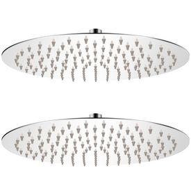 vidaXL Cap de duș tip ploaie, 2 buc., Ø 30 cm, oțel inoxidabil