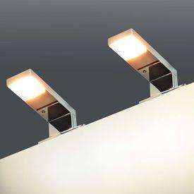 vidaXL Corpuri de iluminat pentru oglindă, 2 buc., 2 W, alb cald
