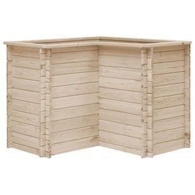 vidaXL Jardinieră de grădină, 100x100x80 cm, lemn masiv de pin, FSC