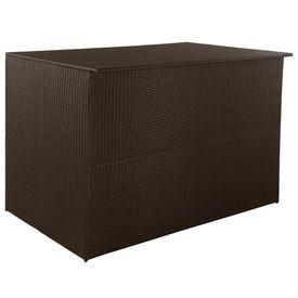 vidaXL Ladă depozitare exterior, poliratan, 150x100x100 cm, maro
