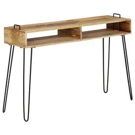 vidaXL Masă consolă, 115 x 35 x 76 cm, lemn masiv de mango
