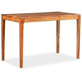 vidaXL Masă de bucătărie, lemn masiv, 118x60x76 cm