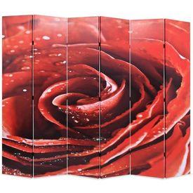 vidaXL Paravan de cameră pliabil, 228x180 cm Trandafir roșu