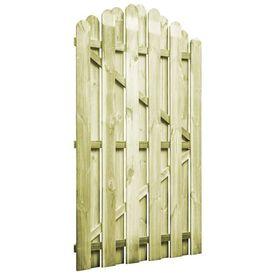 vidaXL Poartă de grădină, lemn de pin impregnat, 100 x 150 cm, arcuit