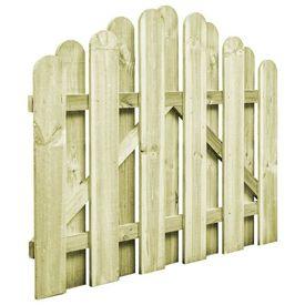 vidaXL Poartă de grădină, lemn de pin impregnat, 100 x 75 cm, arcuit