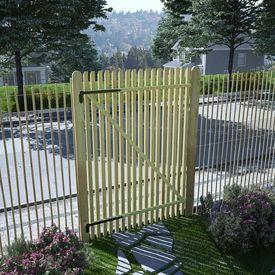 vidaXL Poartă grădină din țăruși, lemn de pin tratat, FSC, 100x150 cm