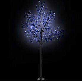 vidaXL Pom Crăciun LED-uri, interior exterior IP44 300 cm Albastru