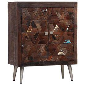 vidaXL Servantă din lemn masiv reciclat, 60 x 30 x 76 cm
