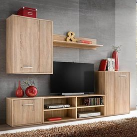 vidaXL Set mobilier sufragerie cu spațiu TV, 5 piese, stejar Sonoma