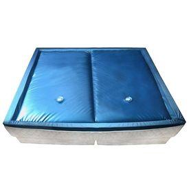 vidaXL Set saltea pat cu apă cu căptușeală și separator 200x200 cm F5