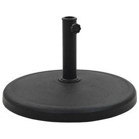 vidaXL Suport umbrelă de soare, negru, 19 kg, polirășină, rotund