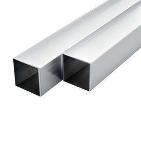 vidaXL Tuburi din aluminiu, secțiune pătrată, 6 buc, 25x25x2 mm, 2 m