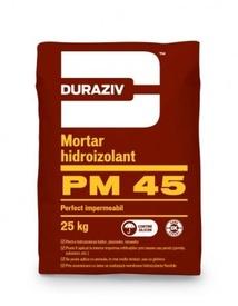 Mortar hidroizolant, perfect impermeabil, aditivat cu silicon DURAZIV PM45 - 25 KG