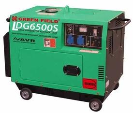 Generator diesel monofazat si isonorizat cu panou automat de pornire,5KW GREENFIELD LDG6500S_A