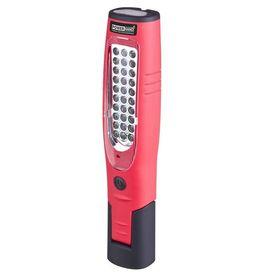 Powerhand Lampă de lucru micro-USB Li-ion, roșu, SIN-100.1026-R