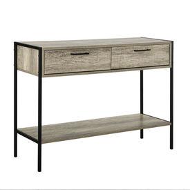 Comoda - cu 2 sertare si 1 compartiment pentru depozitare -73cm x 100cm x 35cm - efect lemn