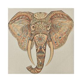 Fotografie de perete decorativa - elefant Model 1- imprimat panza in, cu rama ascunsa - 80x80x3,8cm