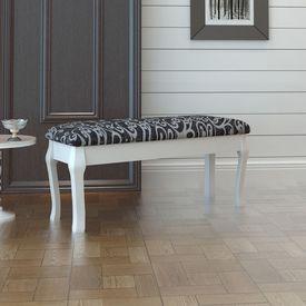 Băncuță capitonată 2 locuri pentru măsuța de toaletă 110 cm, negru