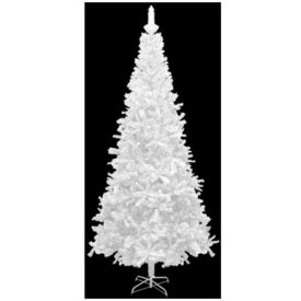 Brad de Crăciun artificial L 240 cm, alb