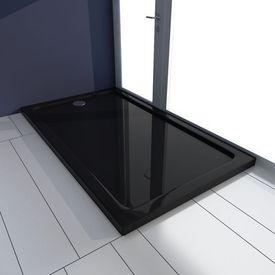 Cădiță duș dreptunghiulară ABS 70 x 120 cm Negru