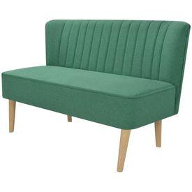 Canapea cu material textil, 117 x 55,5 x 77 cm, verde