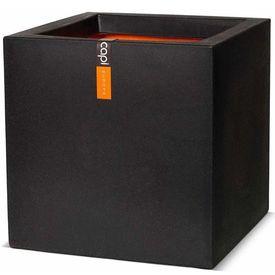 Capi Jardinieră Urban Smooth pătrată, 40 x 40 x 40 cm, negru PKBL903