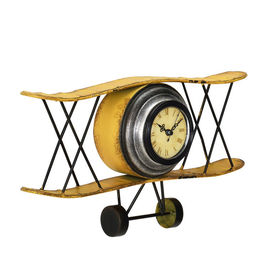 Ceas design de perete model avion - Model 17 Avion, metal/plastic, 38 x 7 x 21,5 cm, multicolor