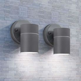 Corp iluminat perete exterior 2 buc, oțel inoxidabil, jos
