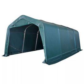 Cort portabil pentru animale 3,3 x 6,4 m PVC Verde închis