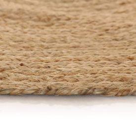 Covor din iută împletită, 150 cm, rotund