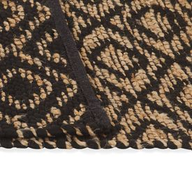 Covor iută lucrat manual, natural și negru, 160x230 cm, textil