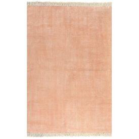 Covor Kilim, roz, 160 x 230 cm, bumbac