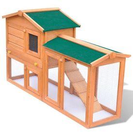 Cușcă iepuri pentru exterior sau animale mici din lemn
