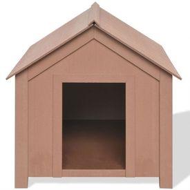 Cușcă pentru câine, WPC, 73,5 x 68 x 74 cm, maro
