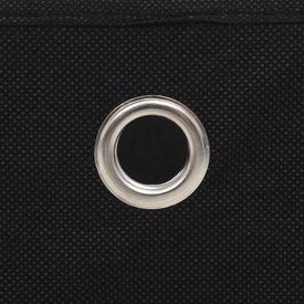 Cutii depozitare, 4 buc, material nețesut, 32x32x32 cm, Negru