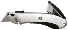 Cutter Aluminiu cu Lama Autoretractabila si 2 Rezerve - 652049