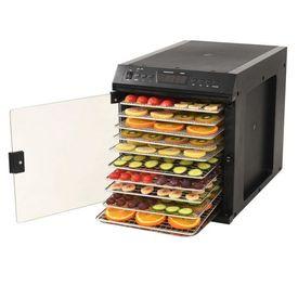 Deshidrator alimente, oțel inoxidabil, 11 tăvi, 480 W, Negru