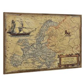 Design fotografie de perete - Harta Europei Model 2 - cu rama - 80x120x3,8cm