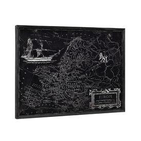 Design fotografie de perete pe placa de aluminiu Modell 9 - Harta Europei, 60x80x2,8cm cu rama lemn
