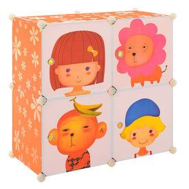 Dulap copii - dulap depozitare portocaliu - DIY sistem asamblare raft