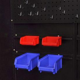 Dulap metalic depozitare scule cu compartiment detașabil, negru-roșu