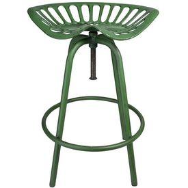 Esschert Design Scaun de bar Tractor, verde, IH023