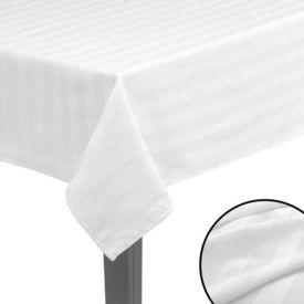 Fețe de masă, bumbac satinat, alb, 5 buc, 130 x 130 cm