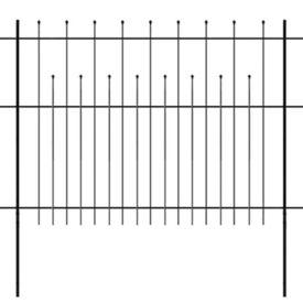 Gard de protecție ornamental tip palisadă, oțel, 600 x 150 cm