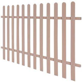 Gard de țăruși din WPC, 200 x 120 cm, maro