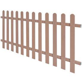 Gard din șipci, WPC, 200 x 80 cm, maro